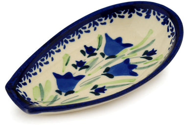 "5"" Spoon Rest - Blue Tulips 