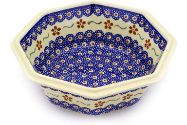 4 cup Octagonal Bowl - 864 | Polish Pottery House