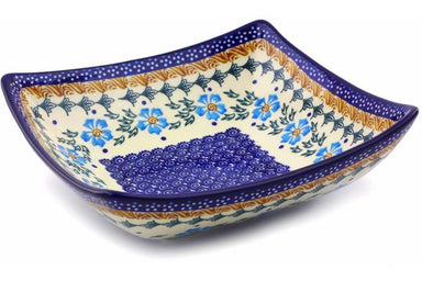 4 cup Square Bowl - P9290A | Polish Pottery House