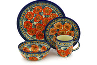 Place Setting - Coral Blossom | Polish Pottery House