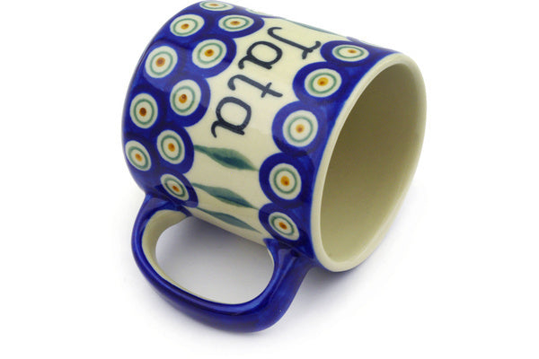11 oz Mug - Peacock | Polish Pottery House