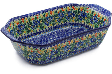"8"" x 14"" Rectangular Baker with Handles - U1892 