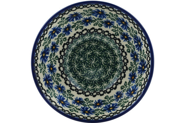 3 cup Cereal Bowl - Blue Daisy | Polish Pottery House
