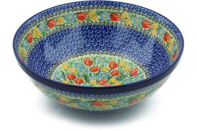 21 cup Serving Bowl - U4475 | Polish Pottery House