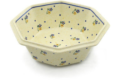 4 cup Octagonal Bowl - 111 | Polish Pottery House