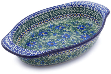 "13"" Oval Baker with Handles - U1012 