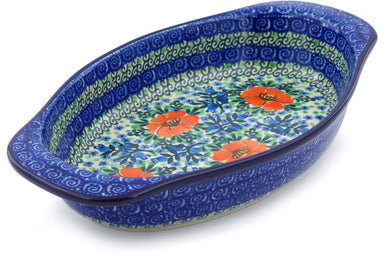 "13"" Oval Baker with Handles - U2055 