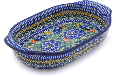 "8"" Oval Baker with Handles - U1757 