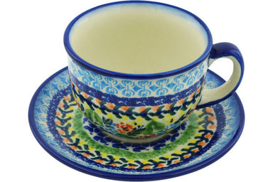 7 oz Cup with Saucer - D82 | Polish Pottery House