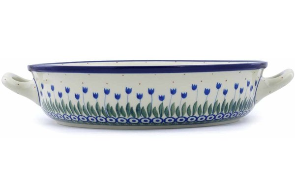"10"" Round Baker with Handles - 490AX 
