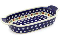 "5"" x 10"" Rectangular Baker with Handles - Old Poland 