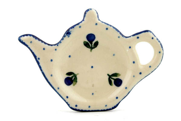 "5"" Tea Bag Holder - Blue Buds 