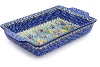 "9"" x 15"" Rectangular Baker with Handles - U4150 