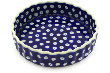 "6"" Fluted Pie Plate - Polka Dot 