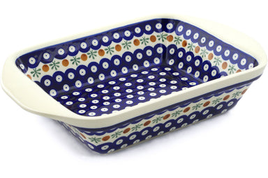 "8"" x 12"" Rectangular Baker with Handles - Old Poland 