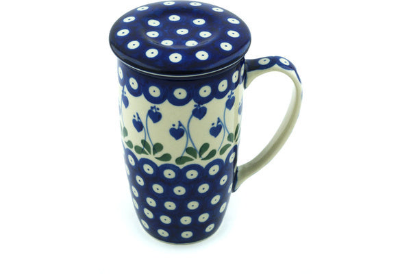 12 oz Brewing Mug - Blue Bell | Polish Pottery House