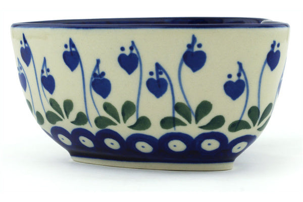 12 oz Heart Bowl - Blue Bell | Polish Pottery House