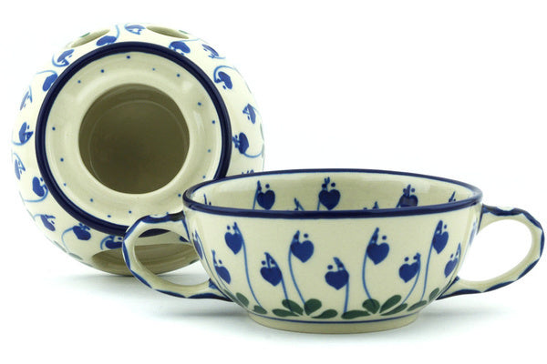 Fondue Set - Blue Bell | Polish Pottery House