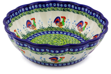 9 cup Fluted Bowl - Rise & Shine | Polish Pottery House