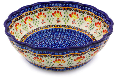 9 cup Fluted Bowl - P9251A | Polish Pottery House