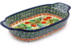 "5"" x 10"" Rectangular Baker with Handles - P9252A 