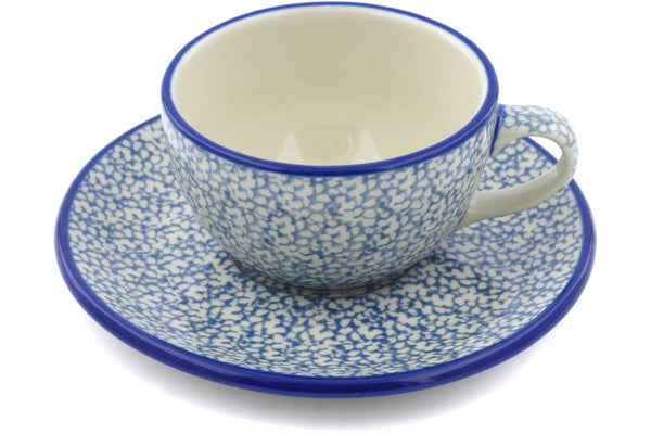 6 oz Cup with Saucer - 288AX | Polish Pottery House