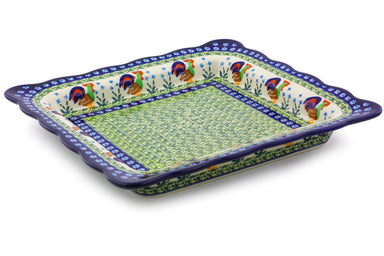 4 cup Square Bowl - Rise & Shine | Polish Pottery House