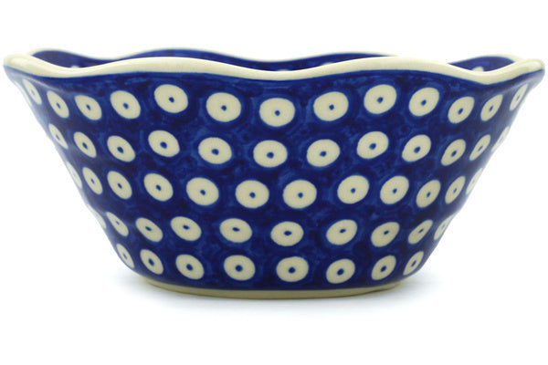 4 cup Fluted Bowl - Polka Dot | Polish Pottery House