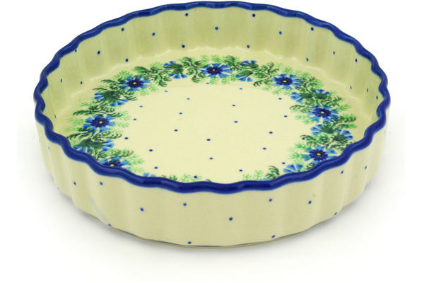 "8"" Fluted Pie Plate - Cornflower 