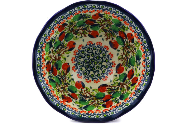 "8"" Pedestal Bowl - Apple Orchard 