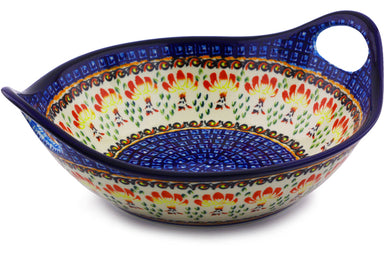 4 cup Serving Bowl with Handles - P9251A | Polish Pottery House