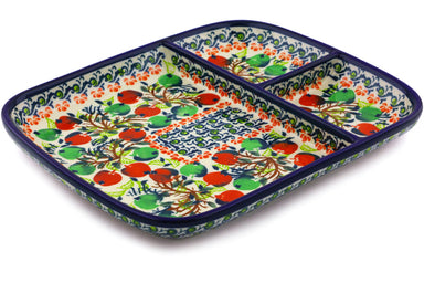 "10"" Divided Dish - Apple Orchard 