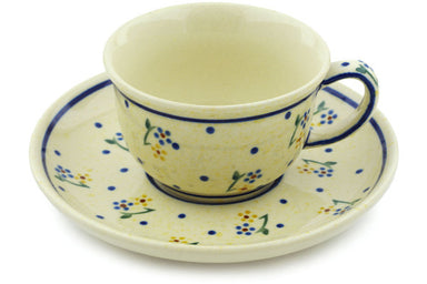 5 oz Cup with Saucer - 111 | Polish Pottery House