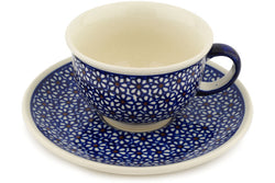 7 oz Cup with Saucer - 120 | Polish Pottery House