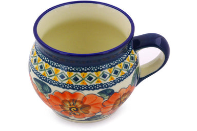 15 oz Bubble Mug - Coral Blossom | Polish Pottery House