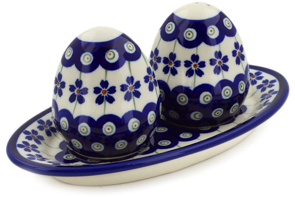 "3"" Salt and Pepper Shakers - Floral Peacock 