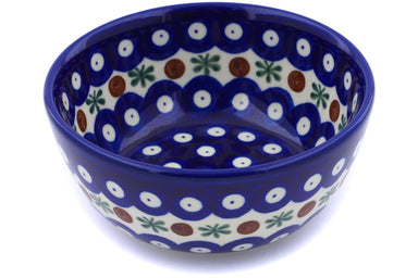11 oz Dessert Bowl - Blue Old Poland | Polish Pottery House