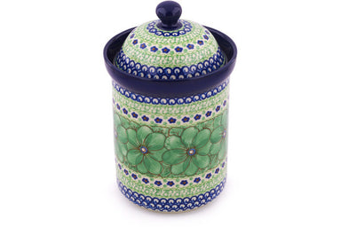 6 cup Canister - U408D | Polish Pottery House