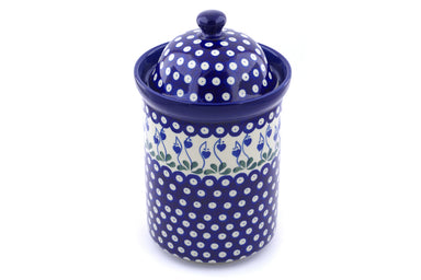 8 cup Canister - Blue Bell | Polish Pottery House