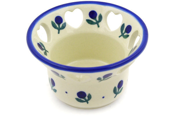 "2"" Candle Holder - Blue Buds 