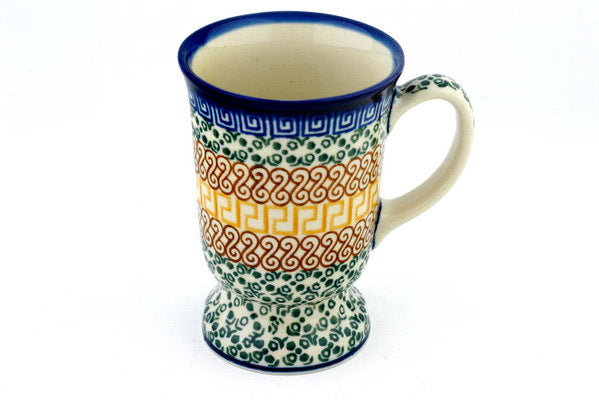 8 oz Mug - Blue Autumn | Polish Pottery House