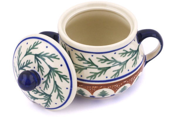 8 oz Sugar Bowl - Evergreen | Polish Pottery House