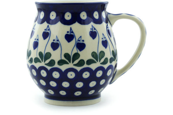 15 oz Bubble Mug - Blue Bell | Polish Pottery House