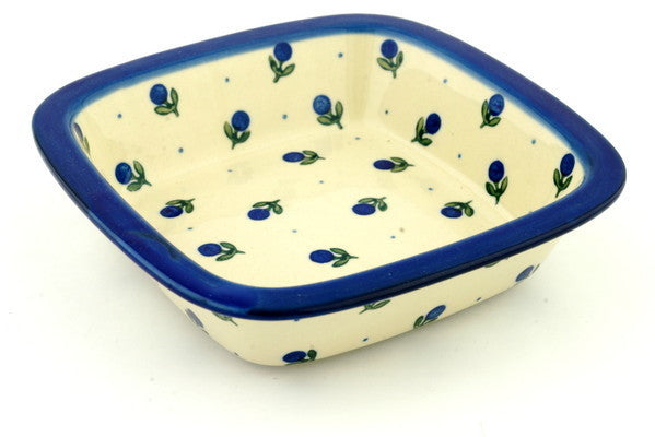 21 oz Cereal Bowl - Blue Buds | Polish Pottery House