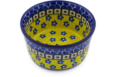 6 oz Ramekin - Blue Sunshine | Polish Pottery House