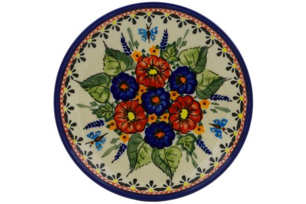 "6"" Bread Plate - Butterfly Garden 