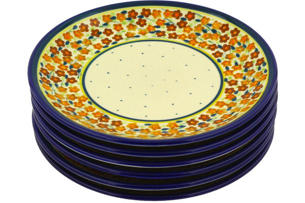 "8"" Set of 6 Salad Plates - Floral Spice 