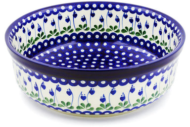 23 cup Serving Bowl - Blue Bell | Polish Pottery House