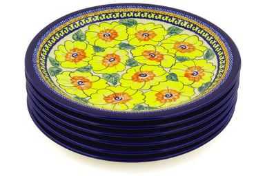 "11"" Set of 6 Dinner Plates - Sunny Blooms 