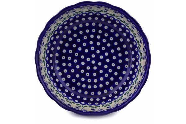15 cup Serving Bowl - Blue Bell | Polish Pottery House